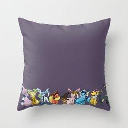 Eeveelutions Go To Hogwarts Throw Pillow