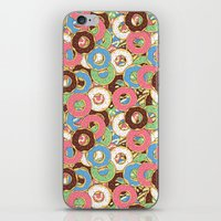 donuts iPhone & iPod Skins featuring Donuts by Beesants