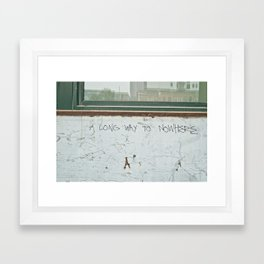 A Long Way to Nowhere Framed Art Print
