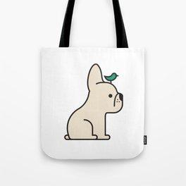 Frenchie Bird Tote Bag