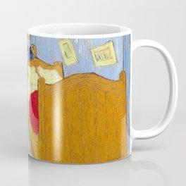 1889-Vincent van Gogh-The bedroom-73,6x92,3 Coffee Mug