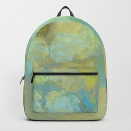 Gold and Blue Flower Garden Abstract Backpack