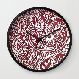 Americana Bandana Design Wall Clock