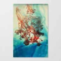 tye dye Canvas Prints featuring Dye by Victoria Shapow