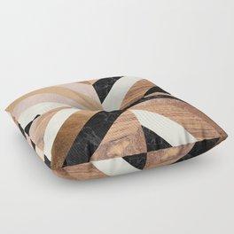 Copper Marble Wood Floor Pillow