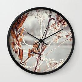 Hoar Frost Wall Clock