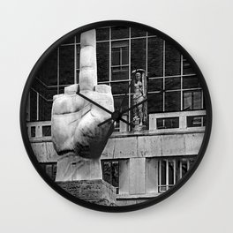 Digitus Impudicus Wall Clock