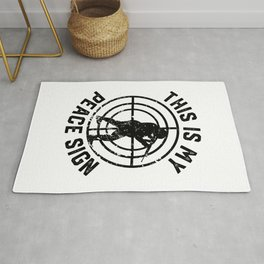 Peace Sign Airsoft Airsoft BBs Gift Rug