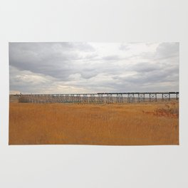 High Level Train Bridge Rug