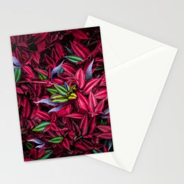 Leaves Texture Stationery Cards