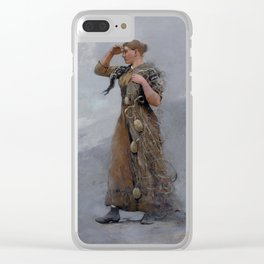 The Fisher Girl,  Winslow Homer Clear iPhone Case