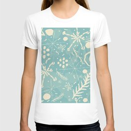 Winter Snowflakes and Doodles T-shirt