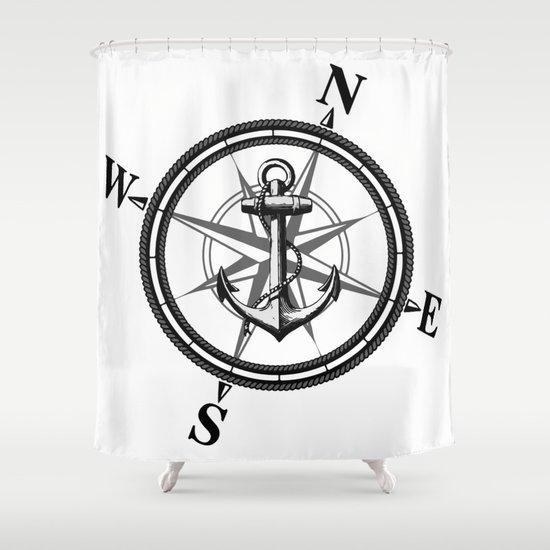 Nautica BW Shower Curtain By Nicklas Gustafsson