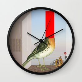 Rotkehlchen singt Wall Clock