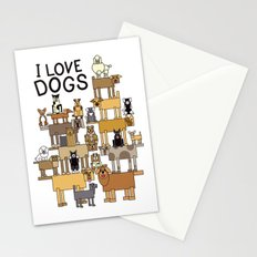 I Love Dogs Stationery Cards