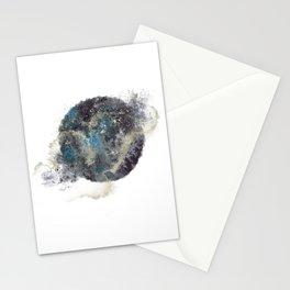 Galaxy Moon Watercolour & Gold Art Print Art Print Stationery Cards
