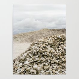 Oyster Shell Mounds, Seafood Fishing Industry, Washington, Northwest Poster