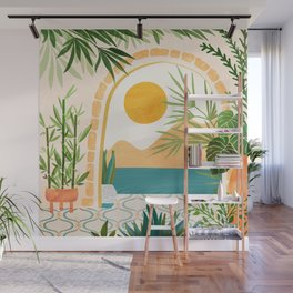 Villa View / Tropical Landscape Wall Mural