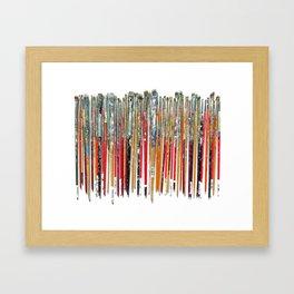 Twenty Years of Paintbrushes Framed Art Print