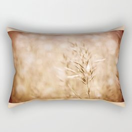Sepia toned ripe grass inflorescence Rectangular Pillow