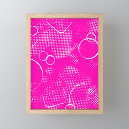 Texture #26 in Hot Pink Framed Mini Art Print