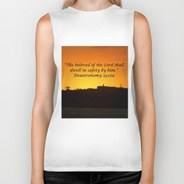 Christian Artwork: The beloved of the Lord shall dwell in safety by Him, God, Love, NZ Biker Tank