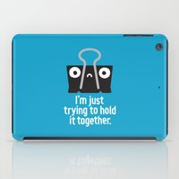 depression iPad Cases featuring Get a Grip by David Olenick