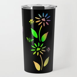 Bees And Flowers Travel Mug