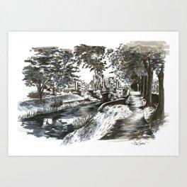 Huband Bridge, Dublin Art Print
