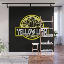Yellow Lion Wall Mural