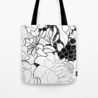 korean Tote Bags featuring Korean Spring by Madame Mim