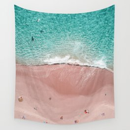 Pink Vacation Wall Tapestry
