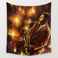 jazz Wall Tapestries featuring Jazz by hello