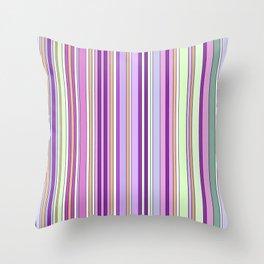Pink Summer Stripes Throw Pillow
