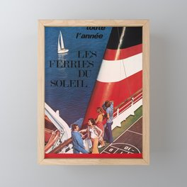 affiches toute lannee les ferries du soleil corse sardaigne algerie tunisie compagnie generale transmediterraneenne a Framed Mini Art Print