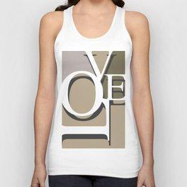 Love Typo #society6 #decor #buyart Unisex Tank Top