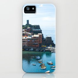 Cinque Terre, Vernazza Village | Mediterranean Coast, Italy | Pastel colorful travel photography in Europe | Art Print iPhone Case