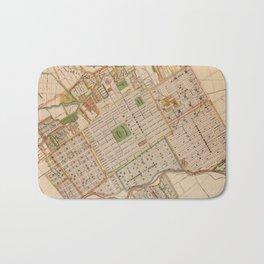 Vintage Map of San Jose California (1886) Bath Mat
