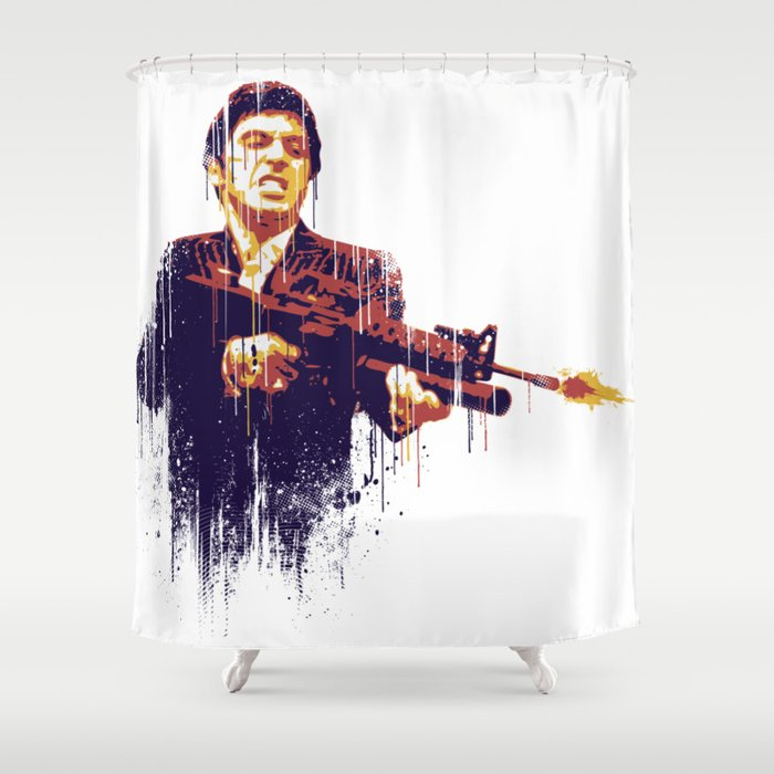 Scarface Shower Curtain By Trevorlution