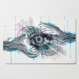 Magic Hands Artwork Cutting Board