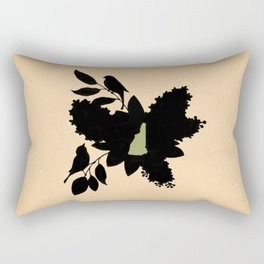New Hampshire - State Papercut Print Rectangular Pillow