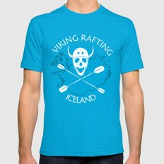 Viking Rafting Iceland SMALL Teal Mens Fitted Tee