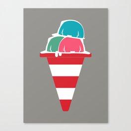 The ice cream construction zone Canvas Print