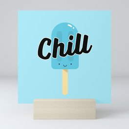 Chill Ice Pop (Blue) Mini Art Print