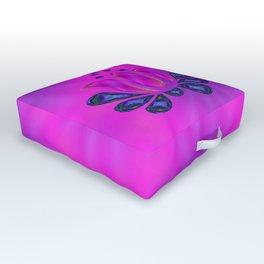 Born of Lotus Abstract Art Outdoor Floor Cushion
