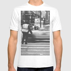 New York  Mens Fitted Tee MEDIUM White
