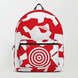 Red target on white background Backpack