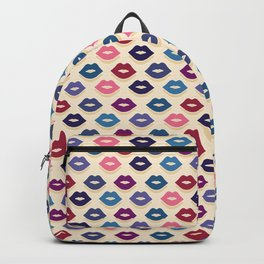 Retro Lips Pattern Backpack