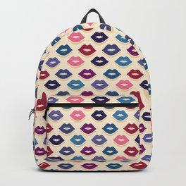 Retro Lips Pattern Backpack