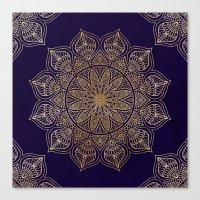 islam Canvas Prints featuring Gold Mandala by Mantra Mandala